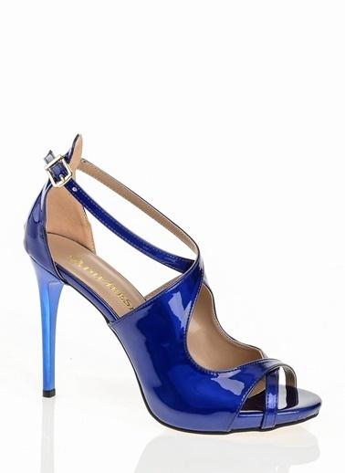 D by Divarese İnce Topuklu Ayakkabı Mavi